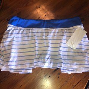 Lululemon Run:Pace-Setter tennis skirt NWT size 12